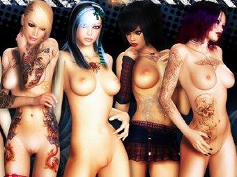 3D Bad Girls sex animationen