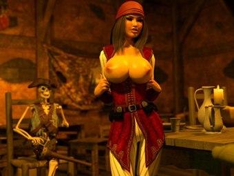 Pirate Jessica fickt Hentai XXX Ungeheuer