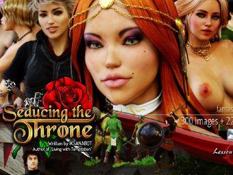 Sex Version Spiel der Throne mit verführerischen Mädchen